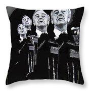 Senator Eugene Mccarthy  Collage Democratic Nat'l Convention Miami Beach Florida 1972-2012  Throw Pillow