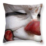 Send In The Clown Throw Pillow