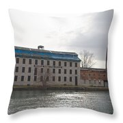 Seneca Falls Knitting Mill Throw Pillow