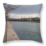 Seneca Falls Marina Throw Pillow