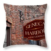 Seneca Harbor Wine Center Throw Pillow