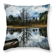 Seney And The Rowboat Throw Pillow