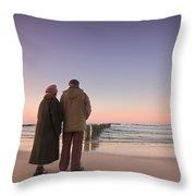 Seniors' Love And Ocean Throw Pillow