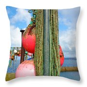 Sennen Cove Buoys Throw Pillow