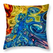 Sensational Colors Throw Pillow