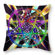 Sense Creation Five Throw Pillow