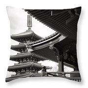 Senso-ji Temple In Tokyo  Throw Pillow