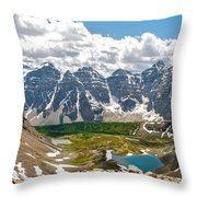 Sentinel Pass And Larch Valley Throw Pillow