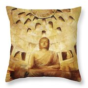 Seokguram Grotto And Bulguksa Temple Throw Pillow