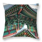 Seoul Palace Throw Pillow by Michael Garyet