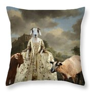 Separating The Sheep From The Goats Throw Pillow
