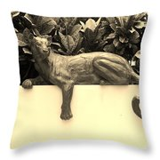 Sepia Cat Throw Pillow by Rob Hans