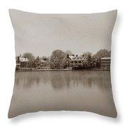 Sepia Chestertown Waterfront Throw Pillow