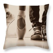 Sepia Duet Throw Pillow