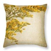 Sepia Gold Throw Pillow