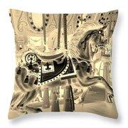 Sepia Horse Throw Pillow