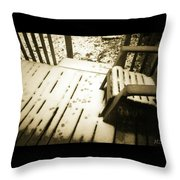 Sepia - Nature Paws In The Snow Throw Pillow