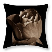 Sepia Rose Portrait 2 Throw Pillow