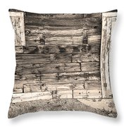 Sepia Rustic Old Colorado Barn Door And Window Throw Pillow by James BO  Insogna