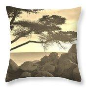 Sepia Seaview Throw Pillow
