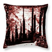 Sepia Skyline Throw Pillow