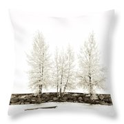 Sepia Square Diptych Tree 12-7693 Set 1 Of 2 Throw Pillow