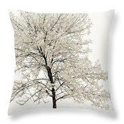 Sepia Square Tree Throw Pillow