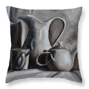 Sepia Still Life Throw Pillow