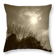 Sepia Sun Throw Pillow