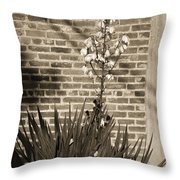 Sepia Yucca Throw Pillow