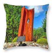 September 11th Memorial Mantua N J Throw Pillow by Nick Zelinsky