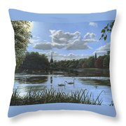September Afternoon In Clumber Park Throw Pillow by Richard Harpum