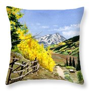 September Gold Throw Pillow