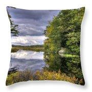 September Storm Clouds Throw Pillow