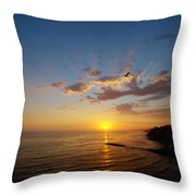 September Sunday Sunset  Throw Pillow