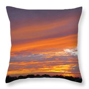 September Sunset Three  Throw Pillow