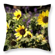 September Yellow Throw Pillow
