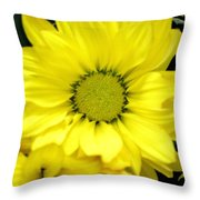 September Yellow Throw Pillow