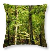 September's Woodlands Throw Pillow