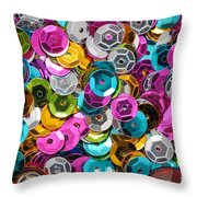 Sequins Abstract Throw Pillow
