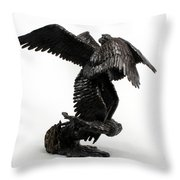 Seraph Angel A Religious Bronze Sculpture By Adam Long Throw Pillow by Adam Long