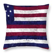 Serapis Flag Throw Pillow by World Art Prints And Designs