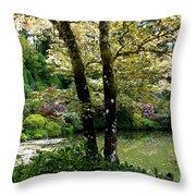 Serene Garden Retreat Throw Pillow
