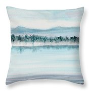 Serene Lake View Throw Pillow
