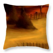 Serene New England Cabin In Autumn #3 Throw Pillow