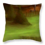 Serene New England Cabin In Summer  #6 Throw Pillow