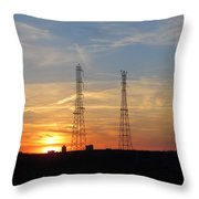 Serene Setting Throw Pillow