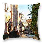 Serene Venice Scene Throw Pillow