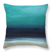 Serenity- Abstract Landscape Throw Pillow