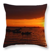 Serenity At The Bay - Sunset Throw Pillow